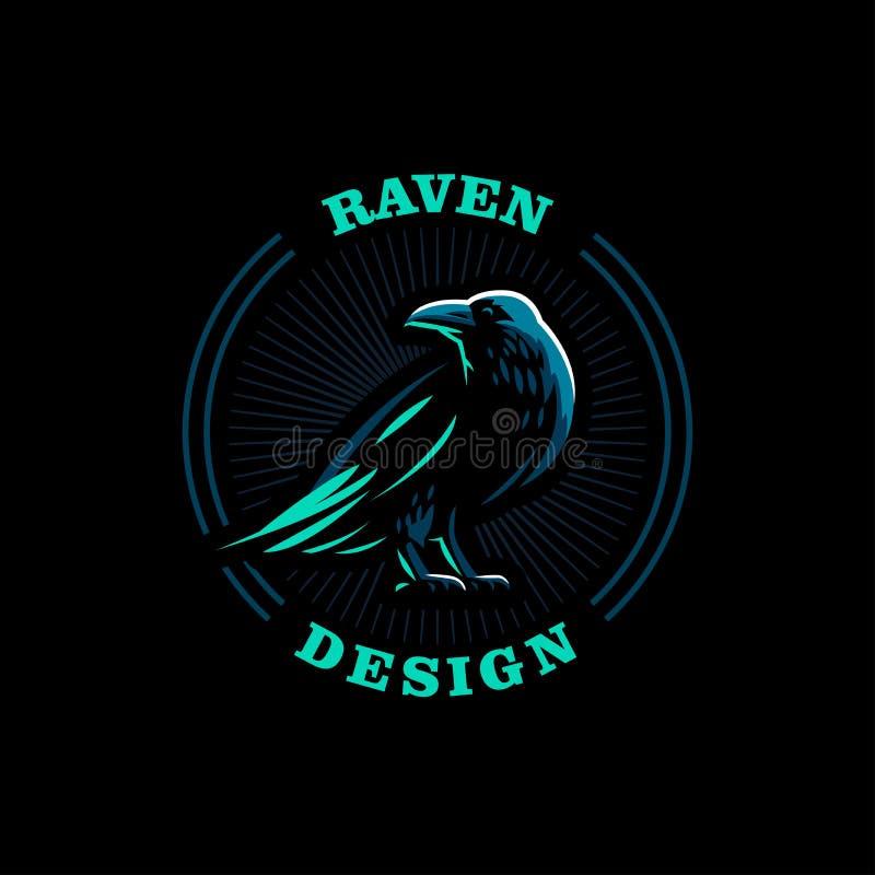 Un corbeau se tient illustration de vecteur