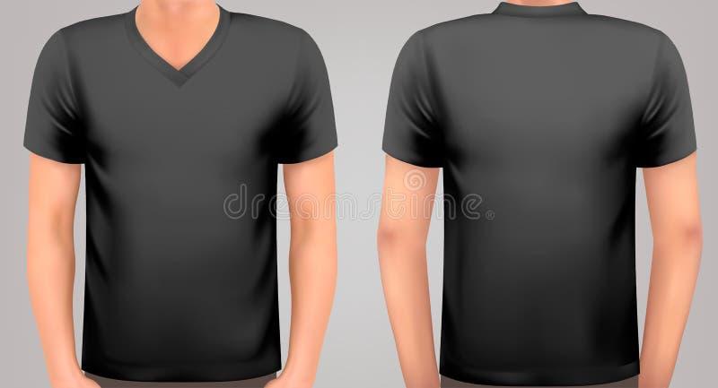 Un corps masculin avec une chemise noire dessus illustration libre de droits