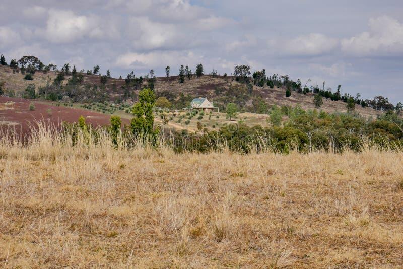 Un cortijo en las colinas de Victoria, Australia imágenes de archivo libres de regalías