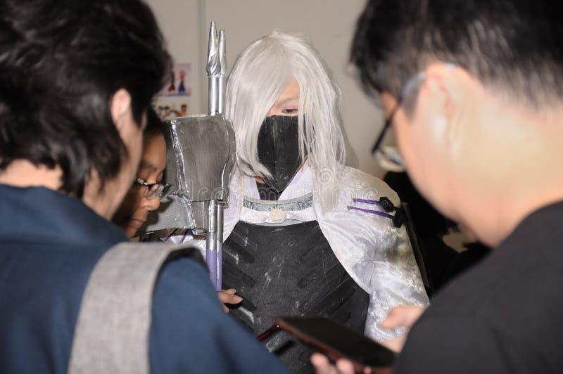 Un cosplayer chez Cosfest à Singapour image stock