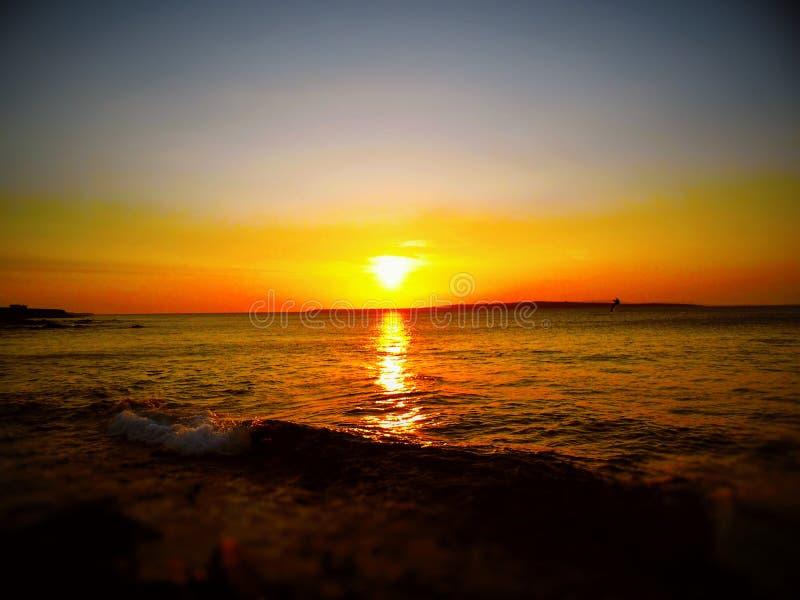Un coucher du soleil aux gruaux de John'O images stock
