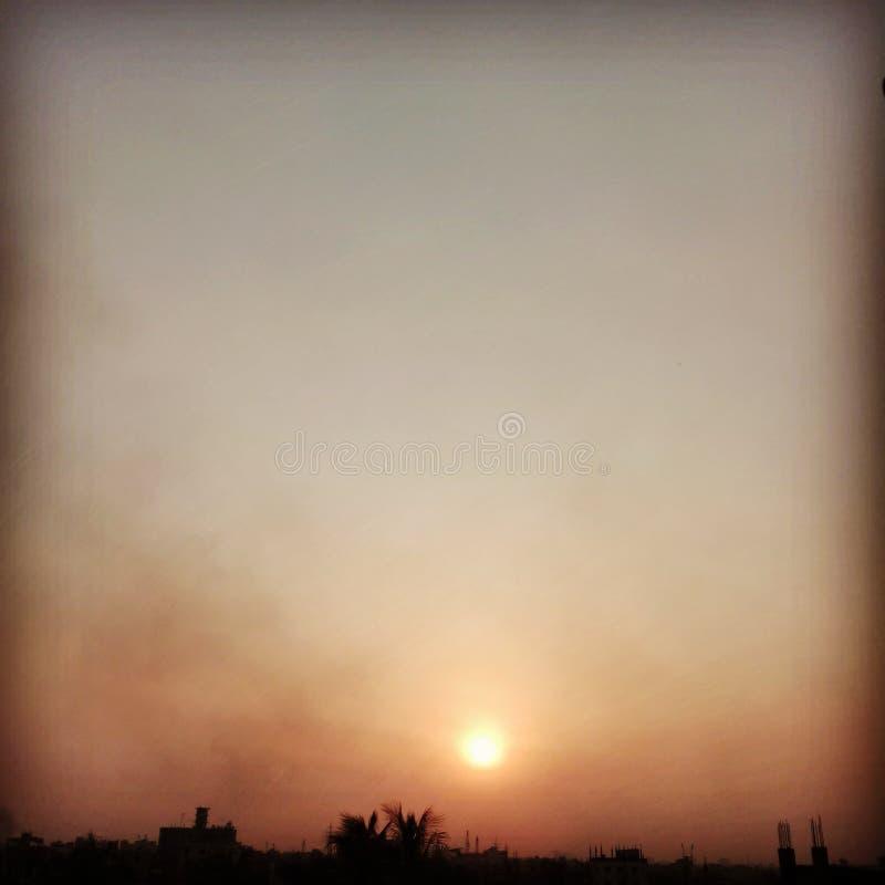 Un coucher du soleil délicieux photographie stock libre de droits