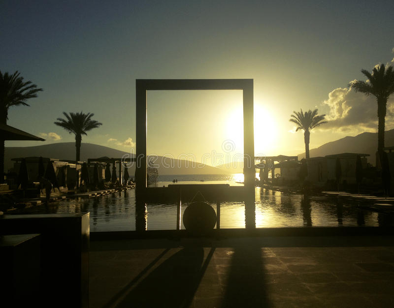 Un coucher du soleil luxary image libre de droits