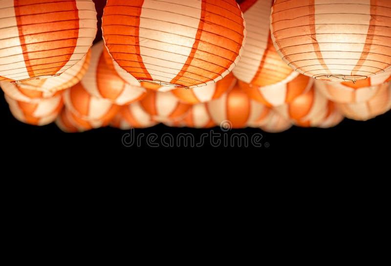 Un coup asiatique de lampe dans le festival de nouvelle année la nuit photographie stock libre de droits