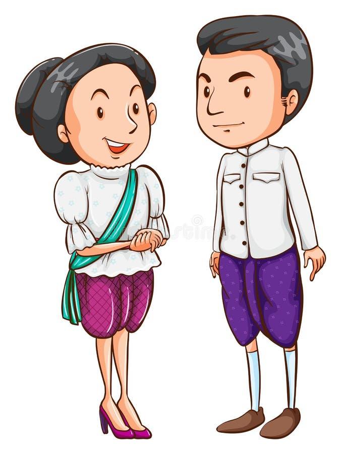 Download Un Couple D'un Pays étranger Illustration de Vecteur - Illustration du espagnols, espagnol: 45366214