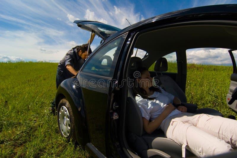Un couple des vacances image libre de droits