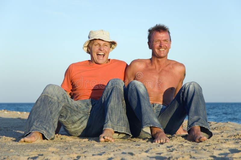 Un couple homosexuel heureux image libre de droits