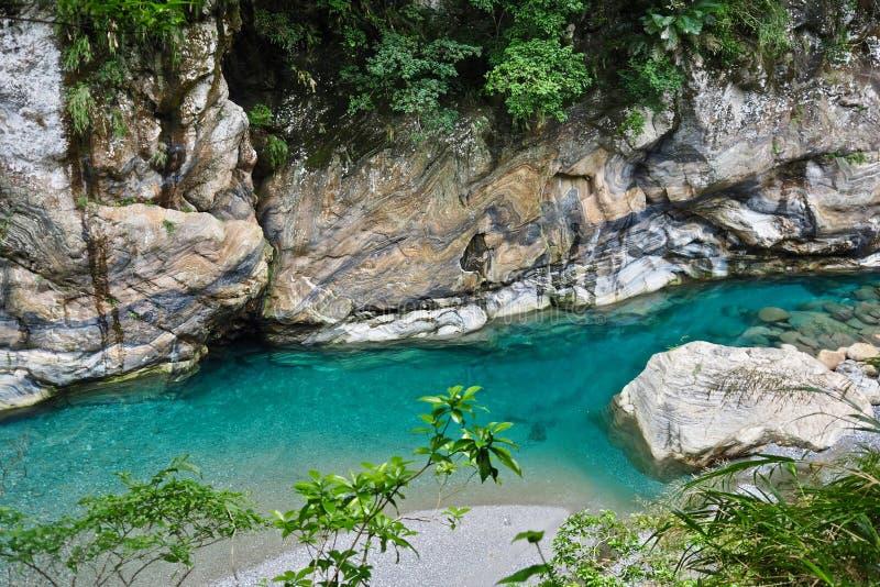 Un courant lucide, parc national de Taroko photo libre de droits