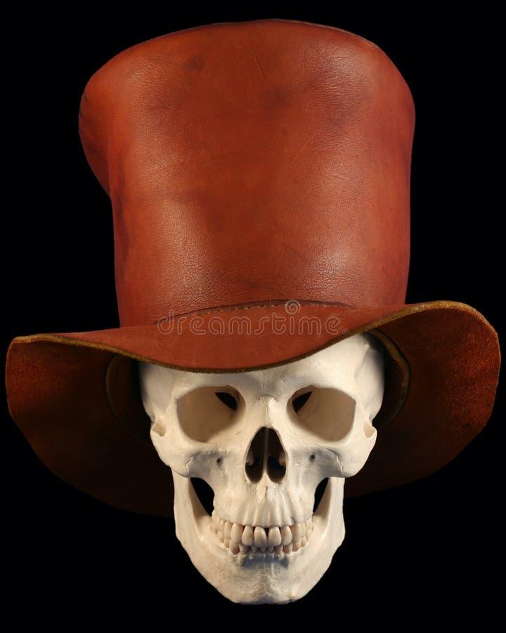Un cráneo en un Tophat fotos de archivo