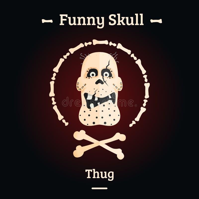 Un crâne d'un personnage de dessin animé Jour de la mort Illustration de vecteur illustration libre de droits