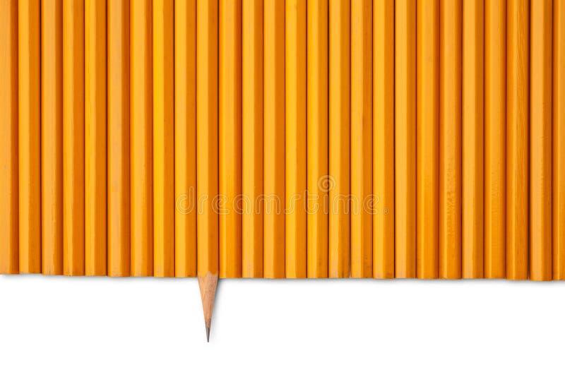 Un crayon pointu photo stock