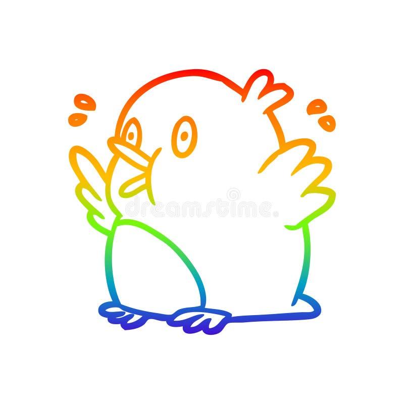 Un creativo dibujo de gradiente de arco iris sobre un robo excitado stock de ilustración
