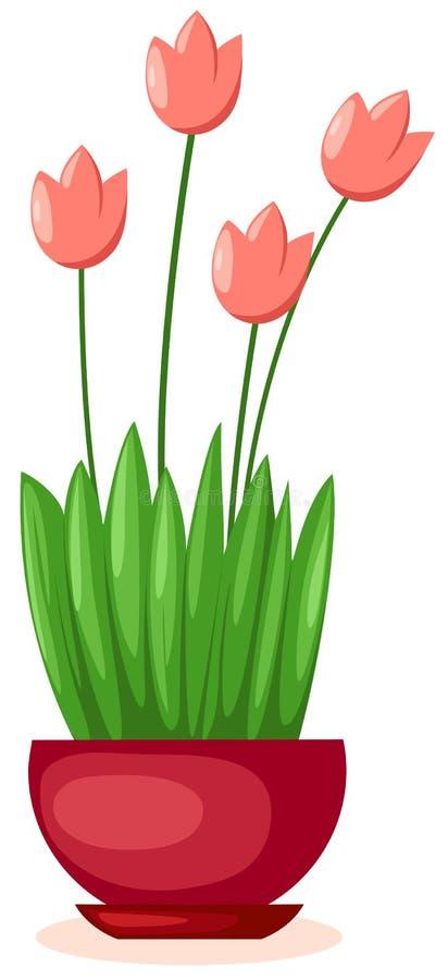 Un crisol de tulipanes ilustración del vector