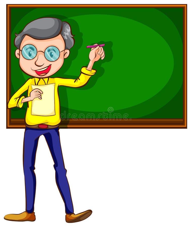 Un croquis d'un professeur masculin illustration de vecteur