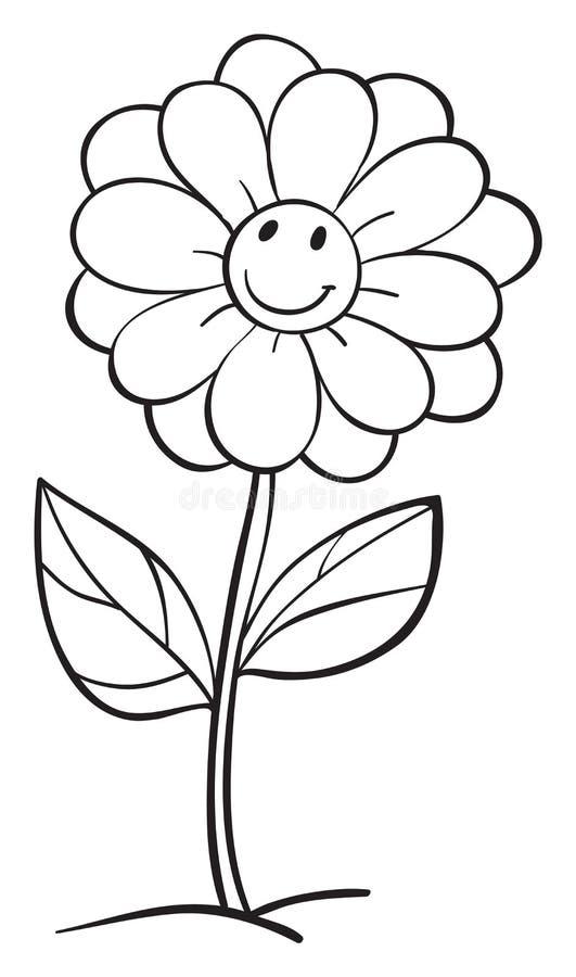 Un croquis de fleur illustration libre de droits