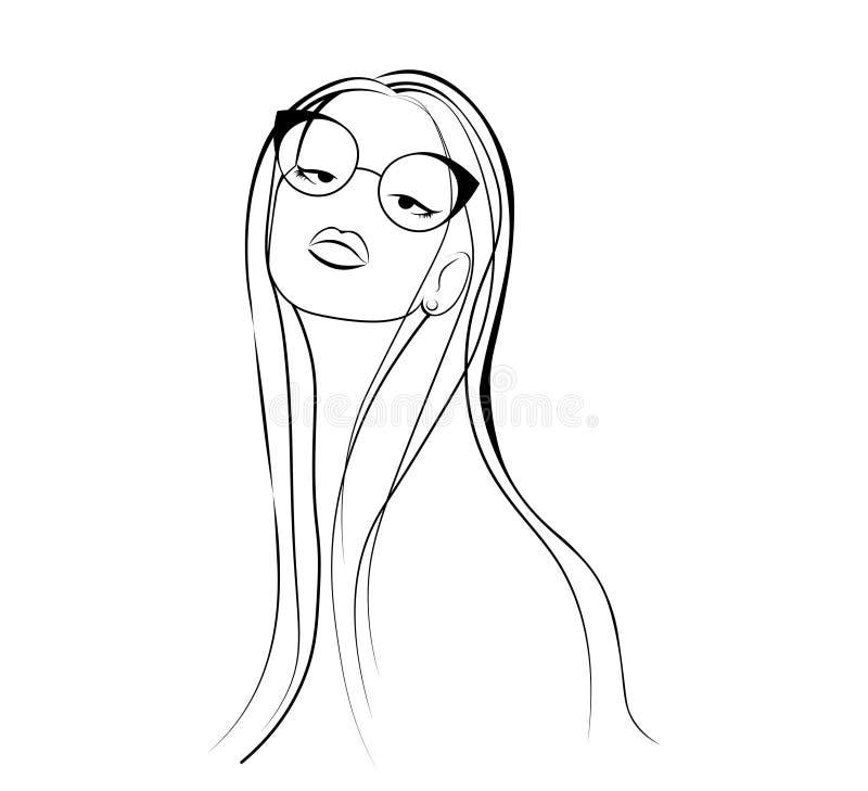 Un Croquis De La Jeune Femme De Mode Dessin De Fille A Imprimer Sur Un T Shirt Illustration Stock Illustration Du Jeune Dessin 86300118