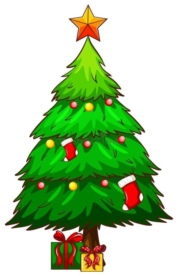 Download Un Croquis Simple D'un Arbre De Noël Illustration de Vecteur - Illustration du joyeux, cadres: 45366167