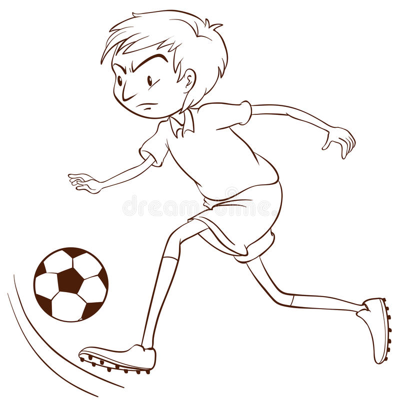 Download Un Croquis Simple D'un Footballeur Illustration de Vecteur - Illustration du illustration, ajustement: 45366115