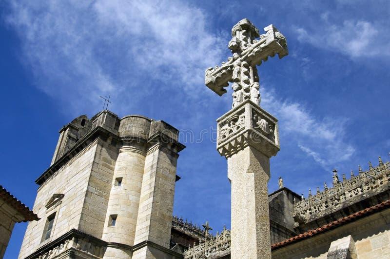 Un crucifijo típico para la basílica de Pontevedra foto de archivo libre de regalías