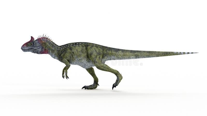 un Cryolophosaurus illustrazione di stock
