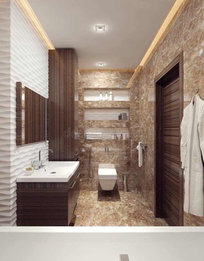 Un cuarto de baño en estilo moderno stock de ilustración