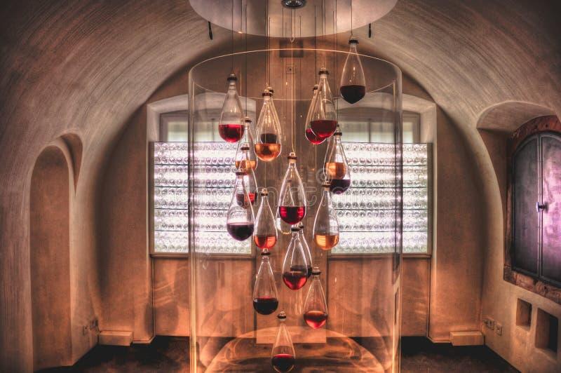 Un cuarto del vino en la fortaleza de Ehrenbreitstein imagen de archivo