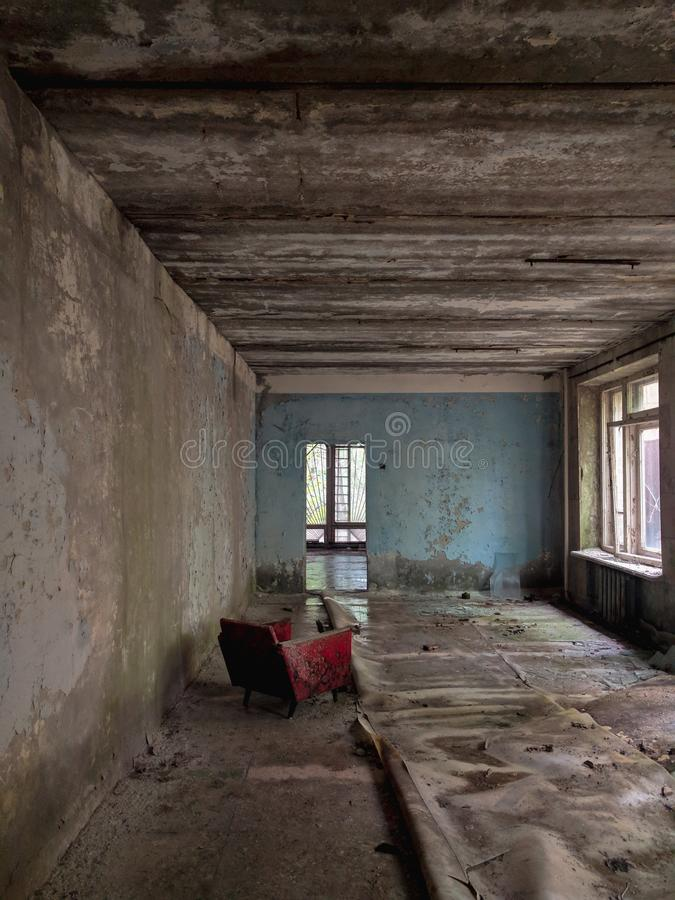 Un cuarto en Pripyat imágenes de archivo libres de regalías