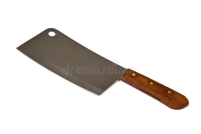 Un cuchillo grande aislado en blanco foto de archivo libre de regalías