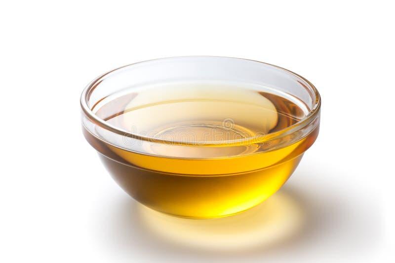 un cuenco de aceite de cacahuete imagenes de archivo