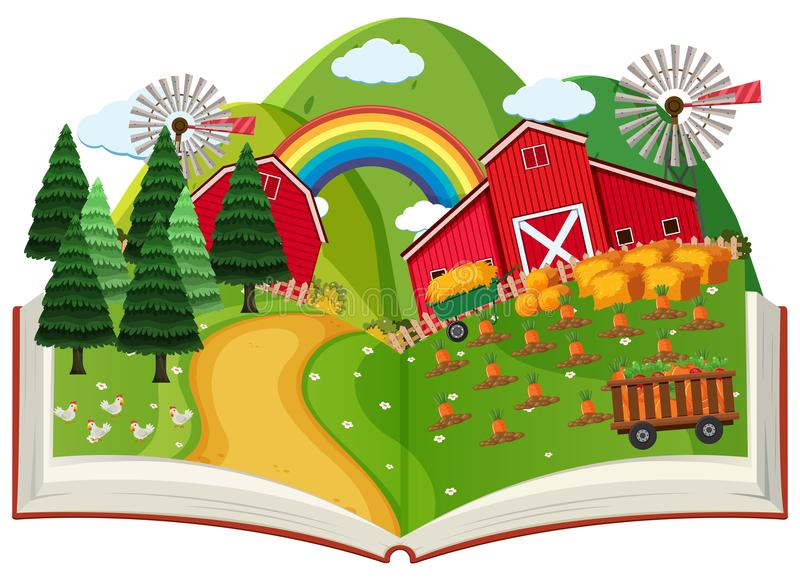 Un cultivo surge el libro libre illustration