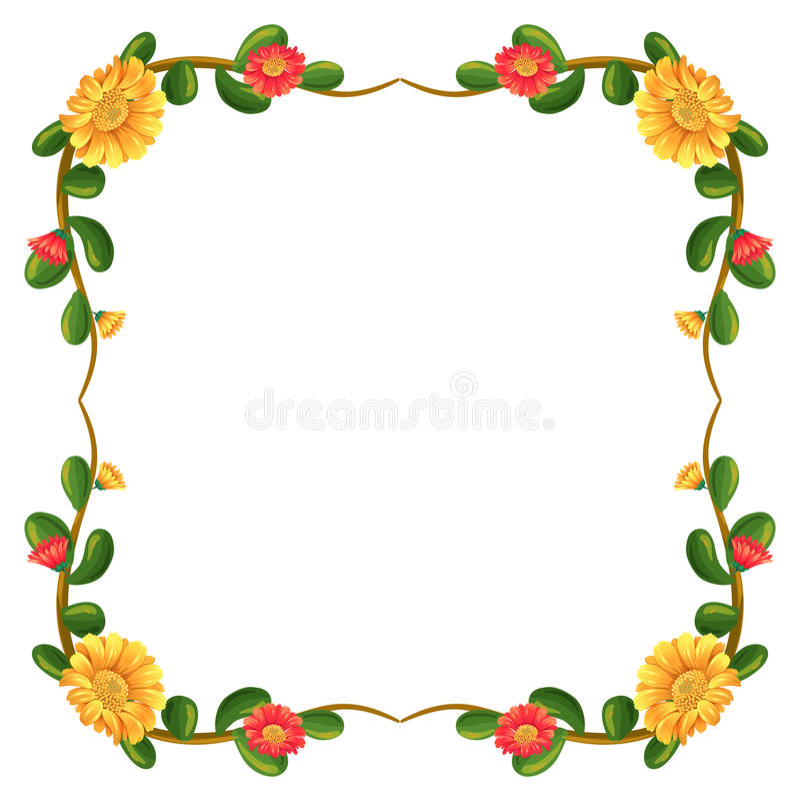 Un décor de marge avec des fleurs illustration libre de droits