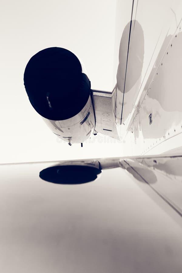 Un détail de turbine d'avion photographie stock