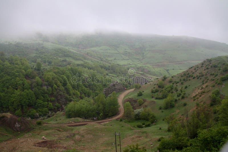 Un día cómodo en las colinas verdes de Irán septentrional, Gilan imagen de archivo libre de regalías