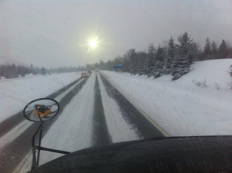 Un día de la nieve foto de archivo