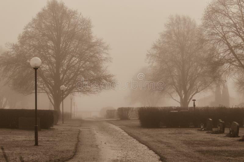 Un día de niebla fotografía de archivo libre de regalías