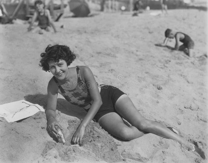 Un día en la playa imagen de archivo libre de regalías