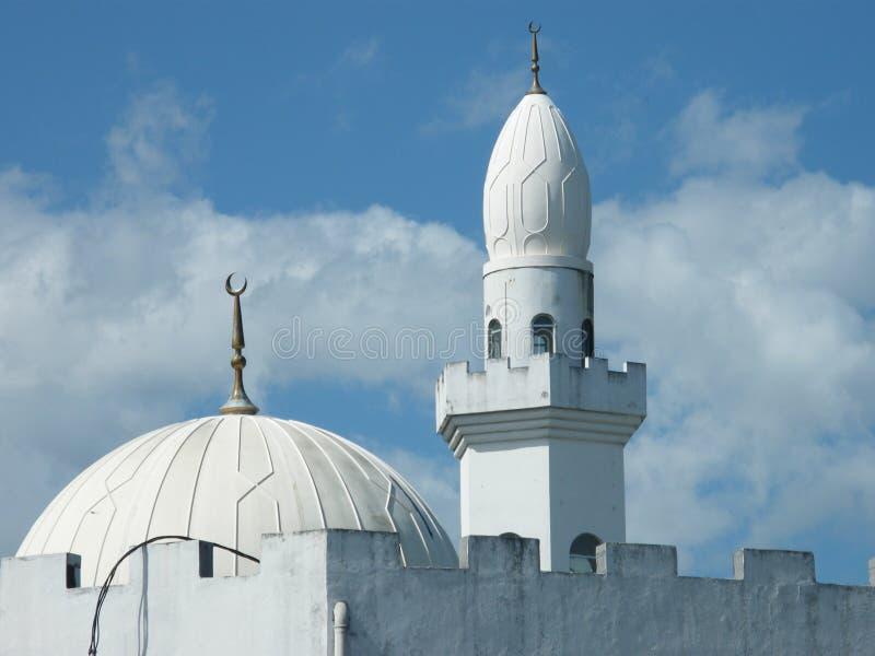 Un dôme et une tourelle de mosquée images libres de droits