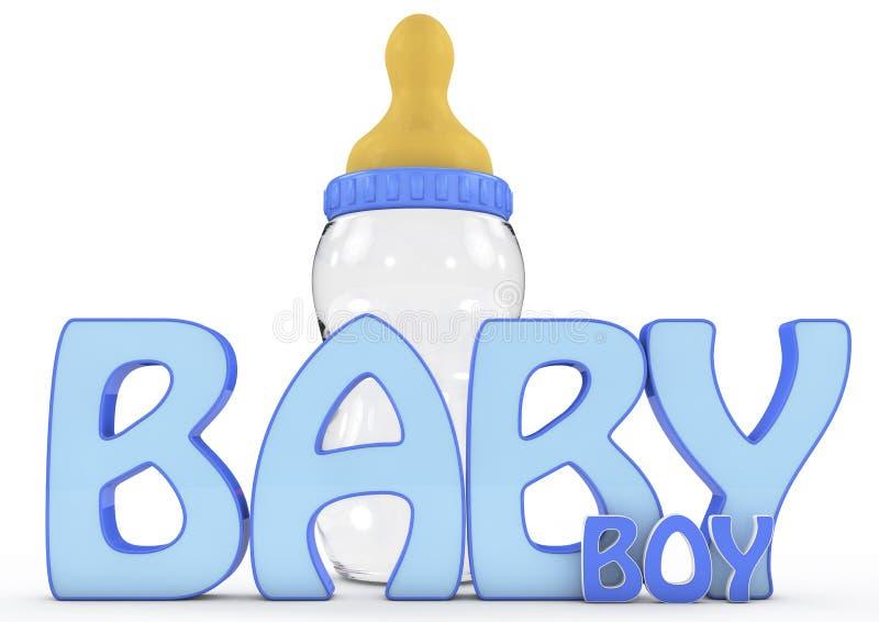 Un 3d coloré a rendu le texte de bébé garçon illustration libre de droits