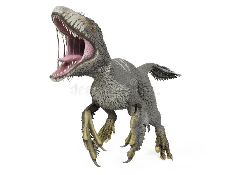 un dakotaraptor illustration stock