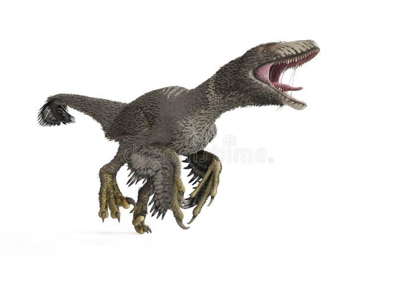 un dakotaraptor illustration de vecteur