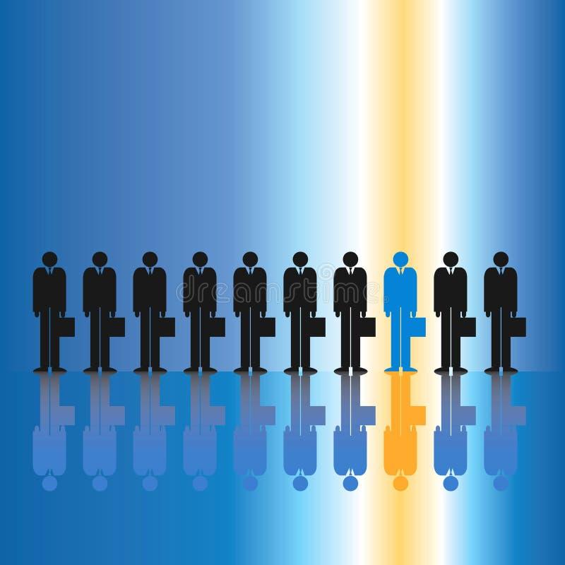 Un dans Dix hommes d'affaires illustration stock