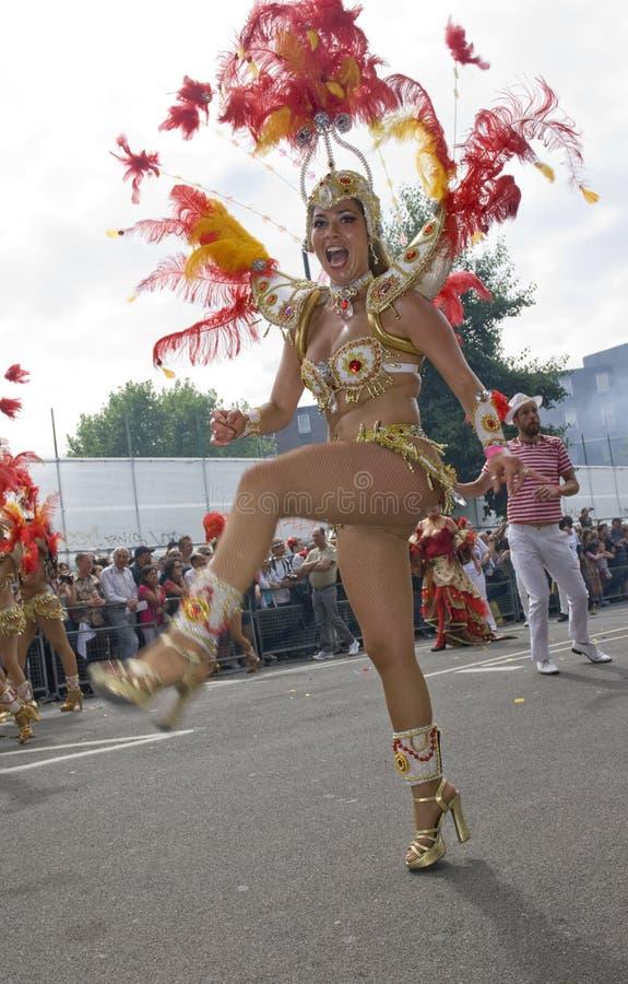Un danseur au carnaval 2009 de Notting Hill image libre de droits