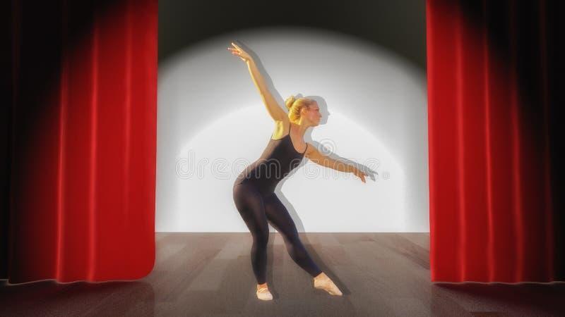 Un danseur danse sur une étape photos stock