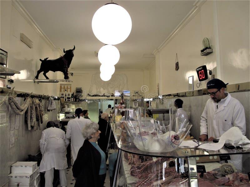 Un de la meilleure boucherie à Rome photo stock