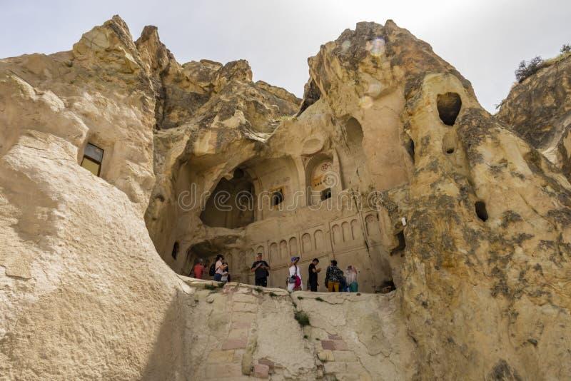 Un de sites de patrimoine mondial de l'UNESCO de la Turquie, le musée en plein air de Goreme est un arrêt essentiel o photographie stock
