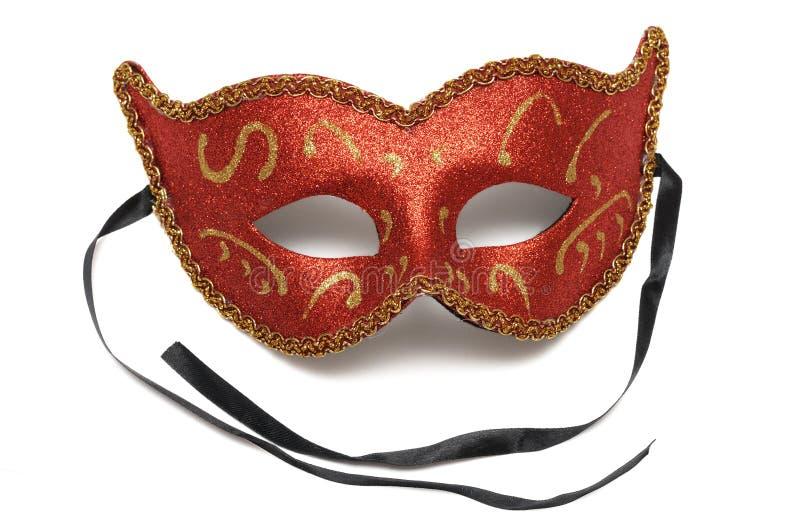 Un demi masque protecteur de théâtre rouge de colombina images stock