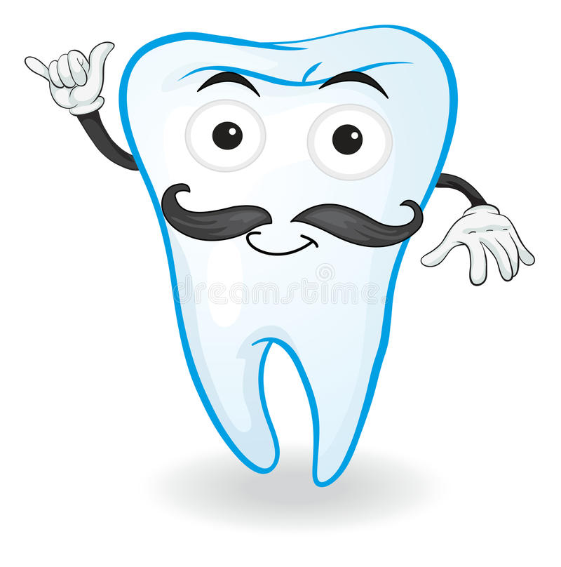 Un dente illustrazione di stock
