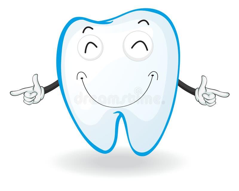 Un dente illustrazione vettoriale