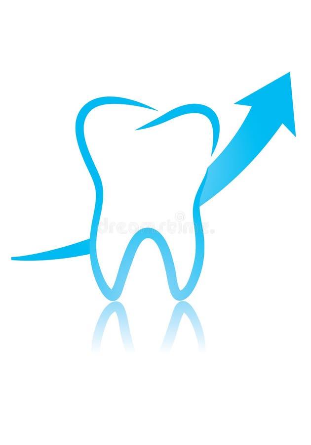 Un dente e una freccia Infographic illustrazione vettoriale