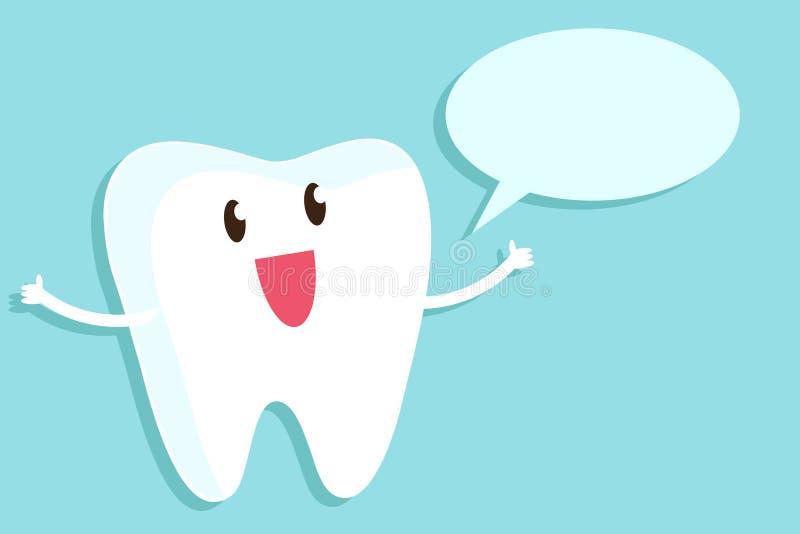 Un dente sano esprime il parere Illustrazione di vettore illustrazione vettoriale